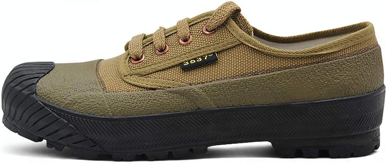 TEEIEW Militrschuhe Arbeitsversicherung Ausbildung Schuhe wasserdicht verschleifesten Canvas Gummischuhe Sommer (gre   38)