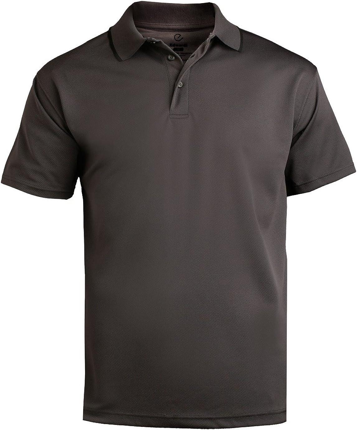 Ed Garments Men's Big And Tall Performance Polo Shirt, STEELE GREY, 6XLT