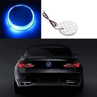 Xotic Tech 1x Ultra Blue Color 82mm Truck Hood Emblem - Round LED Illuminated Emblem Background Light Lighting Kit For BMW 3 4 5 6 7 X M Z Series X3 X5 X6