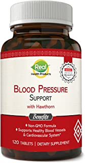 Natural Blood Pressure Support Supplement. Formulated specifically for The Cardiovascular and Circulatory Systems. Non-GMO...
