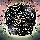 wtnhz Reloj de Pared con Disco de Vinilo LED with LED-Reloj de Pared con Disco de Vinilo Movimiento de Cuarzo Reloj para decoración del hogar