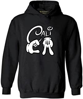 Awkwardstyles Cartoon Hands Cali Hoodie California Republic Hooded Sweatshirt