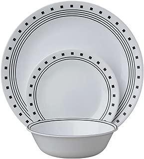 Corelle 18-Piece Service for 6, Chip Resistant, City Block Dinnerware Set