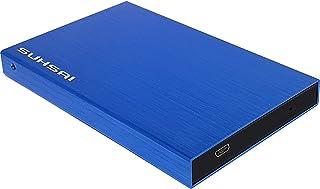 Suhsai Draagbare externe harde schijf opslag back-up gegevens, films, muziek externe harde schijf 2.0 USB compatibel voor ...