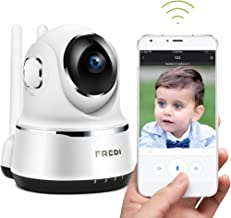 FREDI Wireless Security 1080P HD CameraWiFi IP Indoor Surveillance Camera Home Baby Pet Monitor Motion Detection 2-Way Audio Night Vision 180 Wide Angle Fisheye P2P Remote Viewing IR