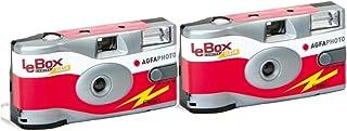 AgfaPhoto LeBox 400 27 Blitz / Flash Einwegkamera (2 er Set bis zu 54Aufnahmen)
