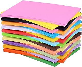 200 feuilles de papier coloré artisanat décoratif papier d'art papier cartonné arts artisanat fournitures pour scrapbookin...