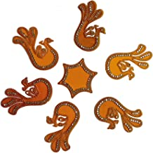 Collectible India Acrylic Rangoli Peacock Shape Reusable for Floor and Wall Decoration for Diwali and Puja Functions - Rangoli Decorations