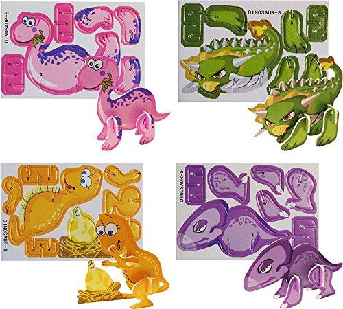 HENBRANDT Puzzles Dinosaur Mini 3D (Paquet de 16)