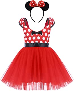 OBEEII Niñas Vestido Princesa Polka Dots Disfrace de Fiesta