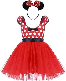 Toddler Girl Polka Dots Cosplay Birthday Princess Tutu Dress Up Fancy Christmas Ballet Leotard Costume with Headband