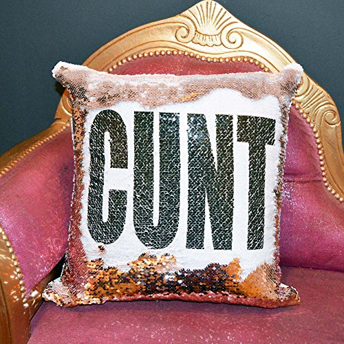 LULAH BLU CUNT Sequin Cushion | Funny Reveal Mermaid Cushions | Insert included