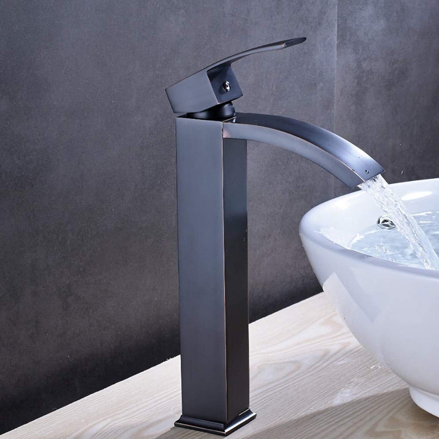 LLLYZZ Solid Brass Luxury Tall Bathroom Faucet Oil Rubbed Bronze Sink Faucet Mixer Tap New