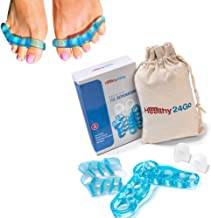 Healthy24Go Toe Bunion Corrector- Toe Separators-Pack of 6 Spacers Gel-Helps for Bunion Relief-Can Stop Pain and Overlapping Toes-Great for Yoga and Both Men and Women.