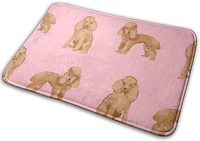 """Toy Poodle Apricot Simple Dog Breed Pink_27499 Doormat Entrance Mat Floor Mat Rug Indoor/Outdoor/Front Door/Bathroom Mats Rubber Non Slip 23.6"""" X 15.8"""""""