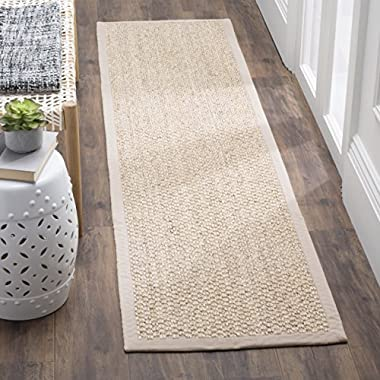 Safavieh Natural Fiber Collection NF525C Chunky Marble Grey Sisal Runner (2'6 x 12')