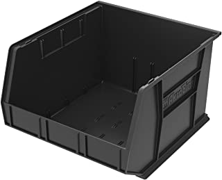 Akro-Mils 30270 Plastic Storage Stacking Hanging Akro Bin, 18-Inch by 16-Inch by 11-Inch, Black, Case of 3