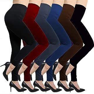 Fleece Lined Leggings For Women High Waist,Elastic and Slimming