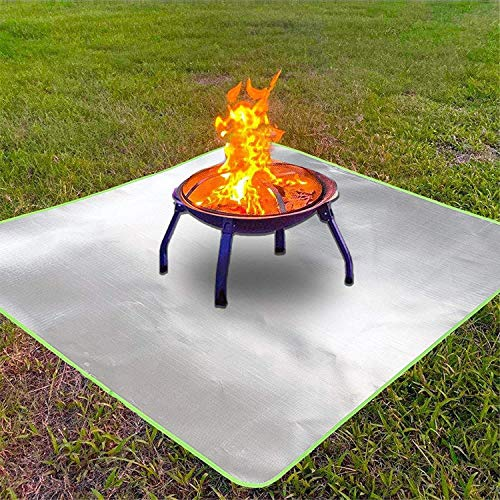 Y DWAYNE Fire Pit Mat for Grass,Fireproof Grill Patio Lawn Deck Protector,Outdoor Wood Burning Fire Pits Fireproof Blanket,for Stove,BBQ Smoker Pad,Camping