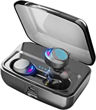 Wireless Earbuds Bluetooth 5.0 Headphones with Microphone IPX8 Waterproof Deep Bass Stereo Sound Auto Paring True Wireless Earbuds with Charging Case