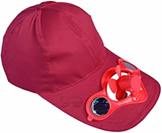 Solaration174; 7001 Claret-red Fan Hat for Baseball, Golf and Sports Watching