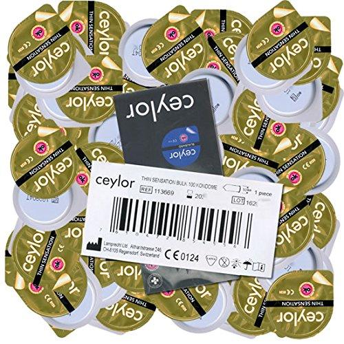 Ceylor Thin Sensation 100 extra sensitive Kondome, Großpackung, verpackt im hygienischen