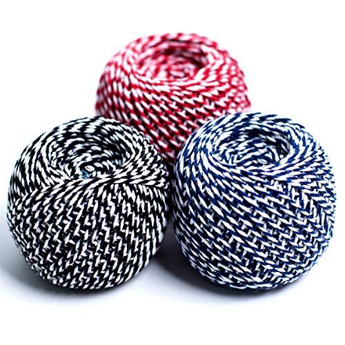 3 x 70m de cuerda de algodón cinta cordel Bakers regalo, diseño...