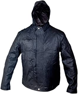 F&H Men's MI 4 Ghost Protocol Ethan Hunt Hooded Genuine Leather Jacket