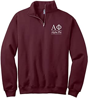 Women's Alpha Phi Quarter Zip Pullover