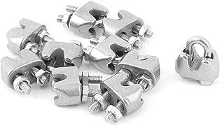 uxcell Wire Rope Clip Cable de repuesto de acero inoxidable abrazadera 5/piezas