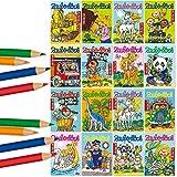 Carpeta 16 Zauberblöckchen mit 24 Blatt in DIN A8 für Jungen und Mädchen | Lutz Mauder 18588 + 18590 | mit 4 Buntstifte