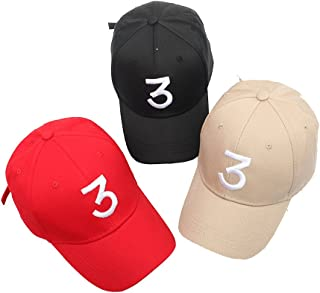 Number 3 Baseball Cap Embroidered Adjustable Chance The Rapper Hip Hop Hats