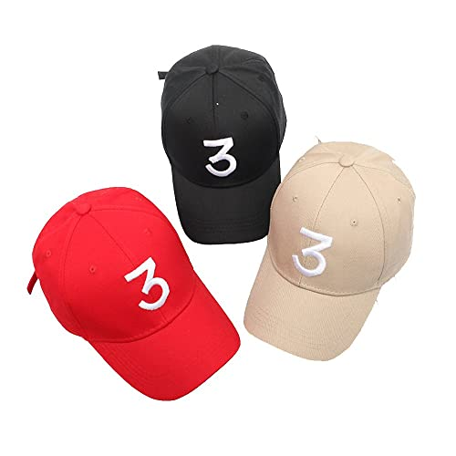 ZZURCCA Number 3 Baseball Cap Embroidered Adjustable Chance The Rapper Hip  Hop Hats 4625bc4f4e07