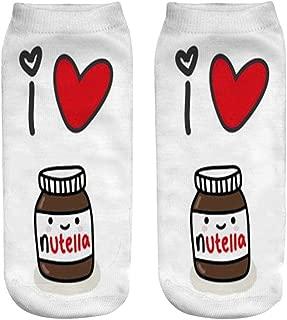 Women Christmas Red Heart Medicine Happy Socks