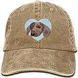 Beibao-shop Gorra de béisbol Dachshund Dog Pet Sombrero de Camionero Ajustable Algodón Denim, Dachshund Dog Pet
