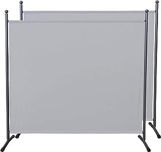 QUICK STAR 2 piezas Paravent 180 x 178 cm tela separador de ambientes partición jardín grande Biombo tabique balcón privac...