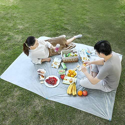 Picknickdecke Stranddecke Strandmatte Wasserdicht, Kleines Packmaß - Ideal für Ground Sheet, Pocket Blanket, Stranddecke, Taschendecke, Campingdecke, Sitzunterlage,1,5 x 2 m
