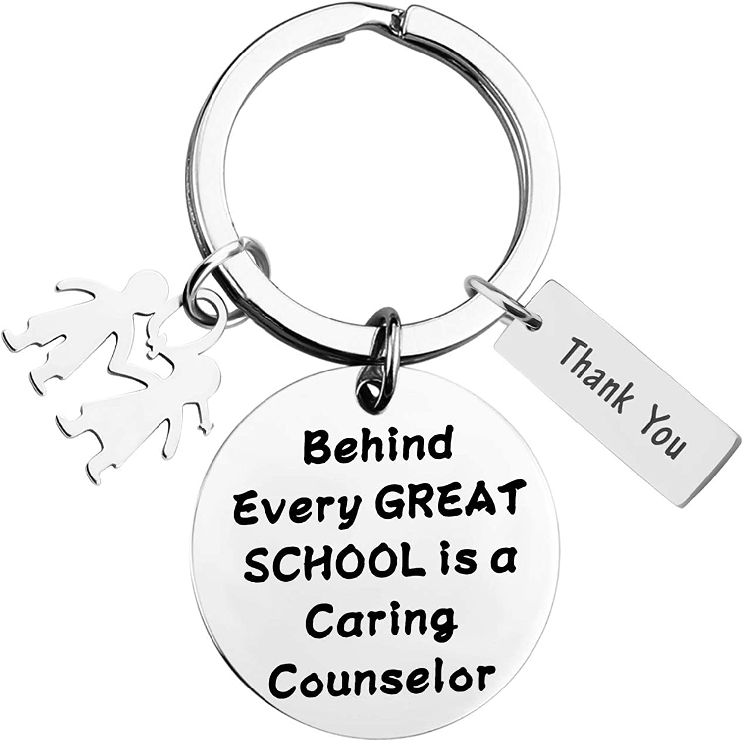 FAADBUK Counselor Keychain School Counselor Gift Thank You Gift for School Counselor End of Year Gift for School Counselor