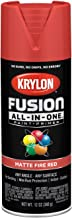 Krylon K02756007 Fusion All-in-One Spray Paint, Fire Red