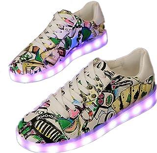 Kids Boys Girls Breathable LED Christmas Light Up Flashing Sneakers for Children Shoes