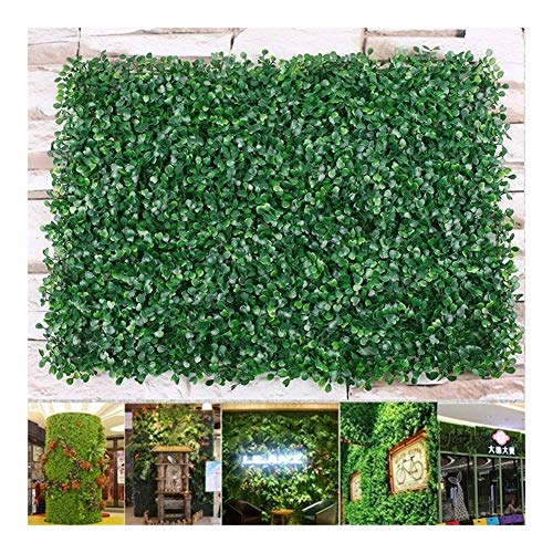 5 Pcs 60 * 40cm Artificial Boxwood Panel Topiary Hedge Plant UV Protected Privacy Screen Outdoor Indoor Use Garden Fence Backyard (Color : 10 pcs)