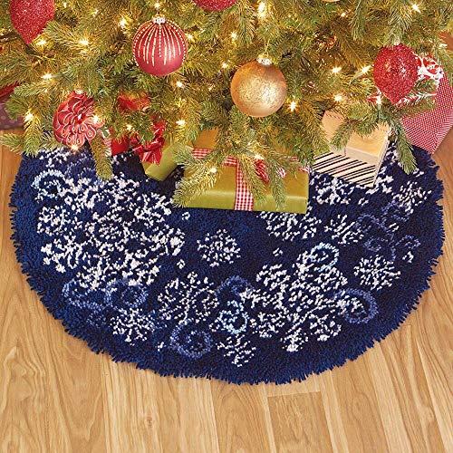 Herrschners Snowflakes and Swirls Tree Skirt Latch Hook Kit