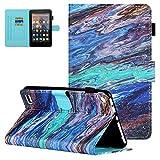 UGOcase - Custodia per tablet Amazon Fire 7, Kindle Fire 7 9a generazione 2019 e 7a generazione 2017 e 5a generazione 2015, sottile e morbido supporto interno in TPU per Fire 7', colore: marmo