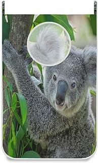 Panier à linge suspendu Sac Koala mignon sur porte d'arbre / mur / placard suspendu Grand panier de sac à linge pour organ...