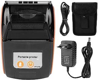 zhuolong Trådlös bärbar kvittoskrivare Bluetooth thermal Bill Printer 58 mm (EU-kontakt orange)