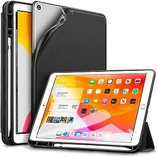 ESR Funda para iPad 10.2, Funda Diseñada para iPad 7a generación 2019 con Soporte Pencil, Funda Tríptica Inteligente con Ranura para Lápiz Táctil, Suave Funda Serie Rebound Pencil,Negro