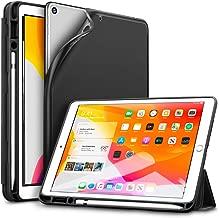 ESR iPad 10.2 ケース 第7世代 2019モデル ソフトフレキシブル 耐衝撃 傷防止 オートスリープ/ウェイク ペンシルホルダー付き ペンシル収納可能 三つ折りスタンド iPad第7世代2019専用(ブラック)