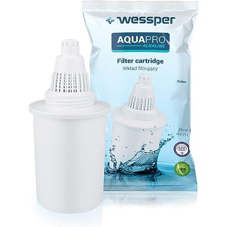 Wessper® Cartucce filtranti per acqua alcalina/ionizzatore compatibile con Wessper, Phox, Kinetic Water, OXA, BUKO brocca di acqua – bianco