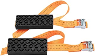 V-EWIGE Anti Skid Tire Blocks 2PCS Emergency Snow Mud Sand Tire Chain Straps Traction Device for Trucks, SUVs and Cars with Carry Bag- Get Unstuck Now