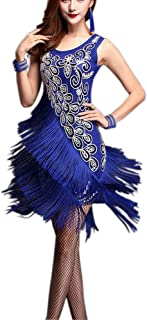 Whitewed Bling Fringe 20s Flapper Great Gatsby Dance Theme Style Costume Dress